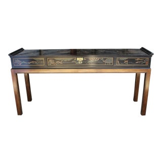 Drexel Et Cetera Chinoiserie Mid-Century Console Table For Sale