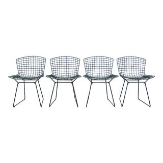 Harry Bertoia for Knoll Gray Side Chairs - Set of 4
