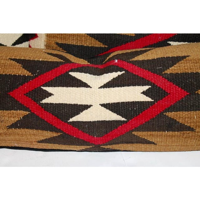 Group of Three Early Navajo Weaving Pillows For Sale - Image 4 of 5