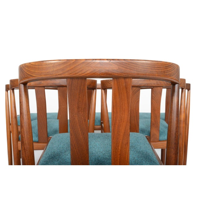 Danish Modern Curved Back Teak Dining Chairs - Set of 6 - Image 10 of 10
