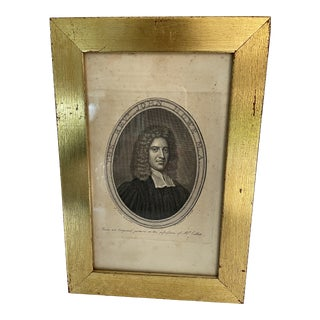 18th Century Engraving of Rev. John Howe For Sale