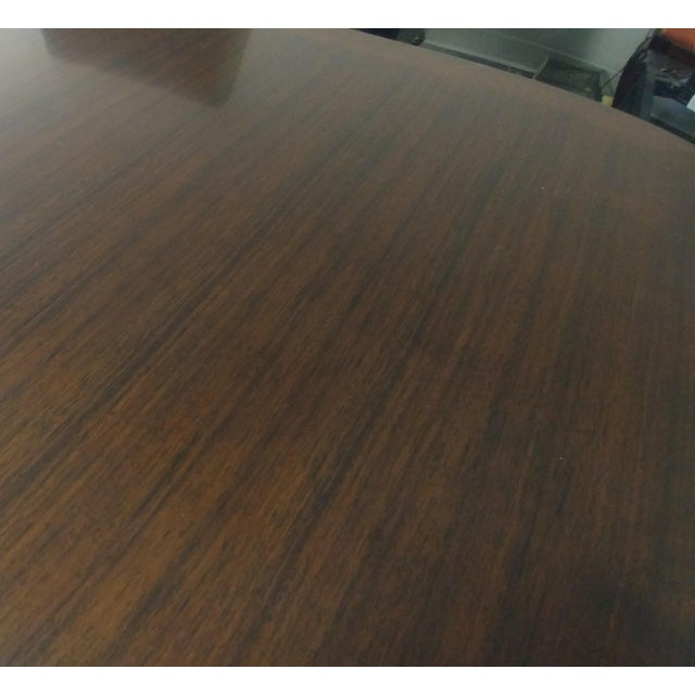 Brown Henredon Furniture Barbara Barry Perfect Parsons Walnut Dining Table For Sale - Image 8 of 13