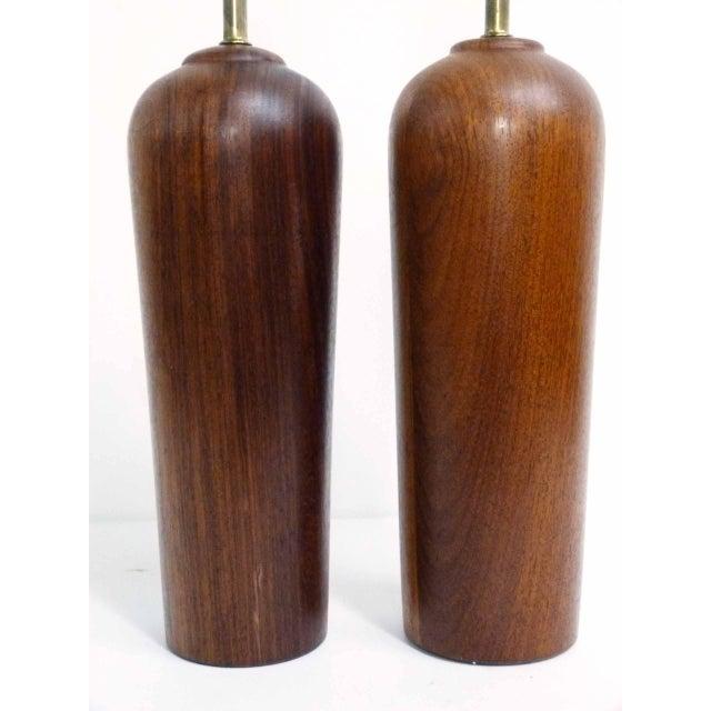 Danish Modern Teak Table Lamps - Pair - Image 2 of 6