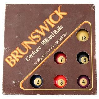 Vintage Brunswick Century Billiard Ball Set For Sale