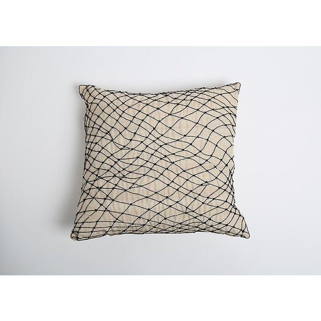 Pyar Black Beaded Pillow - Image 2 of 4