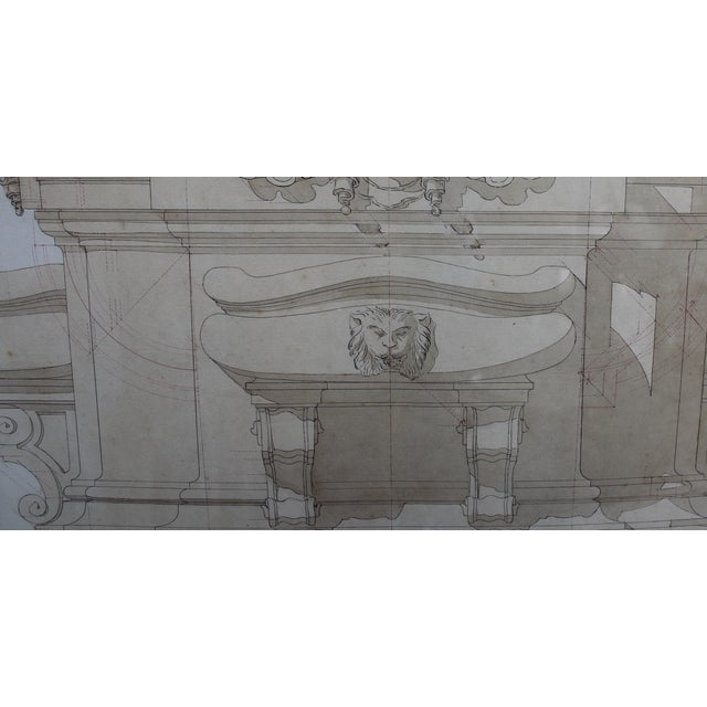 Architectural Rendering by Felice Manlio For Sale - Image 4 of 4