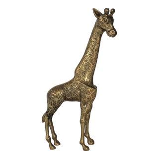 Standing Brass Giraffe For Sale