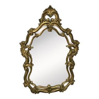 Mid-Century Rococo Wall Mirror For Sale