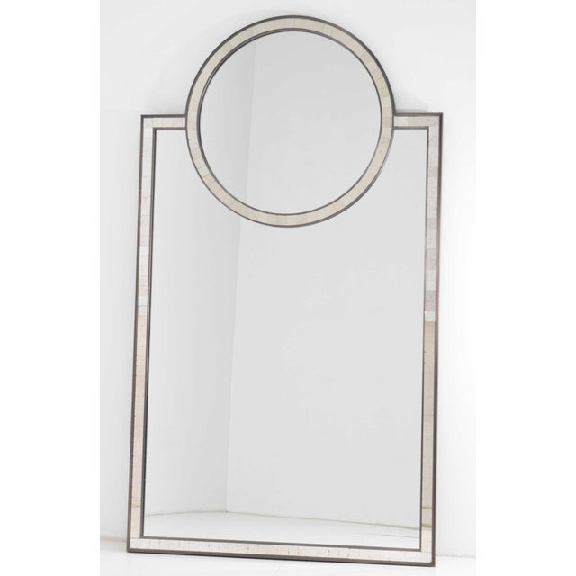 Wood Pair of Mosaic Mirrors by Baker Furniture For Sale - Image 7 of 12