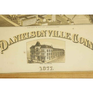 Antique Framed Map of Danielsonville Ct Preview