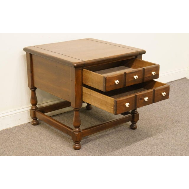 Late 20th Century Vintage Ethan Allen Pine Nightstand For Sale In Kansas City - Image 6 of 13