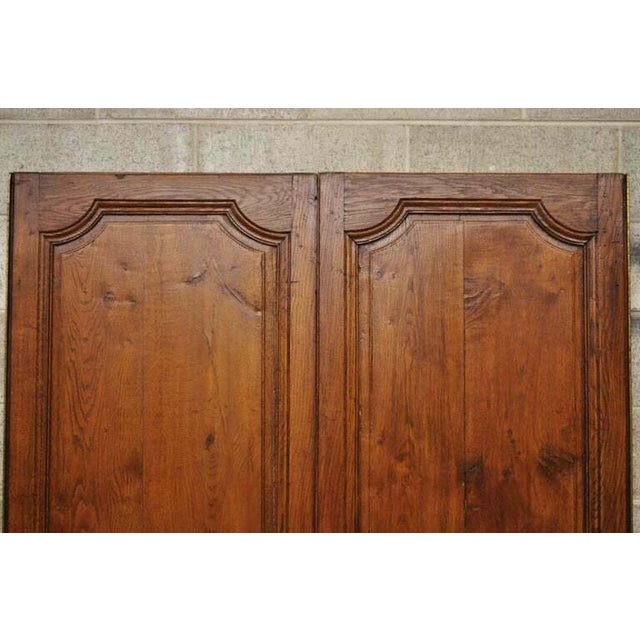 French 19th Century French Louis XVI Oak Interior Double Doors - Set of 2 For Sale - Image 3 of 13