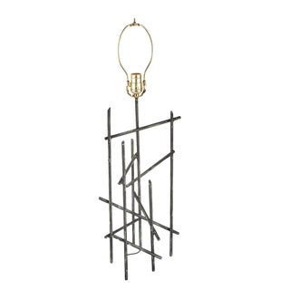 Modernist Pickup Sticks Wrought Iron Table Lamp For Sale