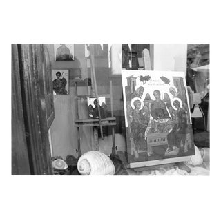 """""""Icon Painter, Tinos, Greece"""" Contemporary Original Photograph by Louise Weinberg For Sale"""