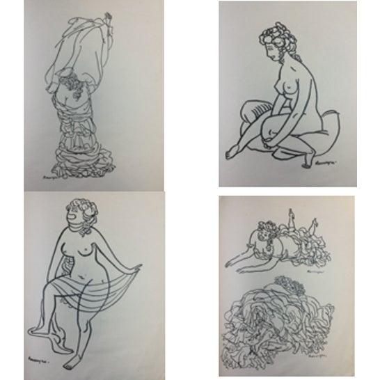 1923 Parisiennes Drawing Print by Remy De Gourmont & André Rouveyre For Sale - Image 11 of 12