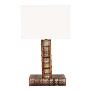 20th Century Vintage Book Lamp For Sale