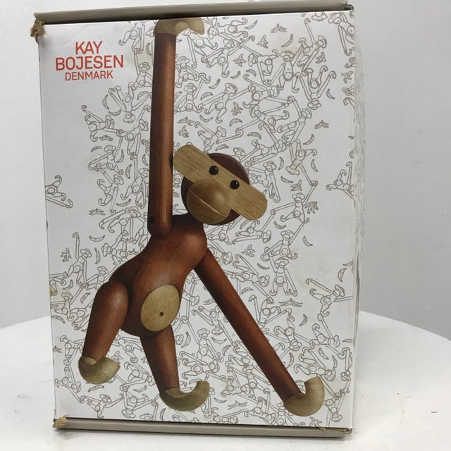 Brown Mid-Century Danish Modern Teak and Ebony Articulated Monkey by Kay Bojensen For Sale - Image 8 of 9