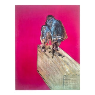 """Francis Bacon Rare Vintage 1960 Limited Edition Collector's Lithograph Print """" Study for a Chimpanzee """" 1957 For Sale"""