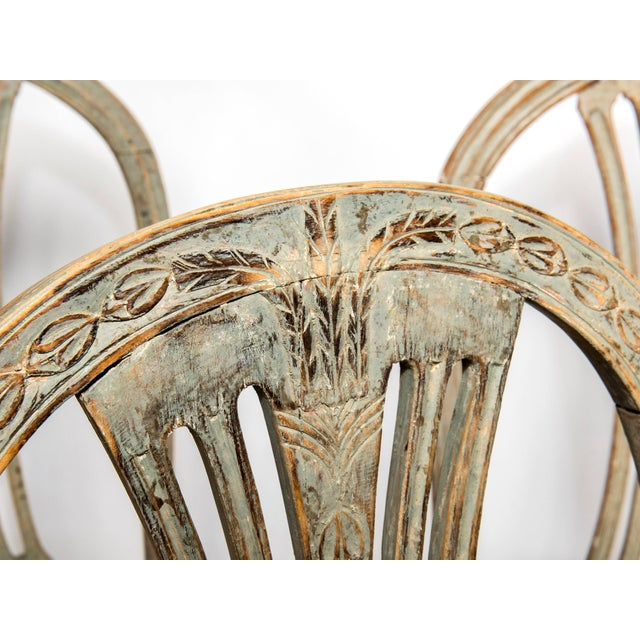 Set of Six Gustavian Chairs For Sale - Image 4 of 9
