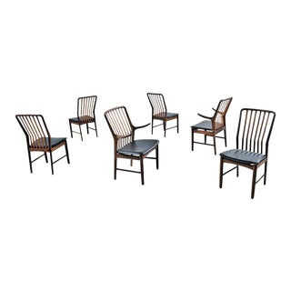Svend Aage Madsen for Moreddi Danish Walnut Dining Chairs - Set of 6