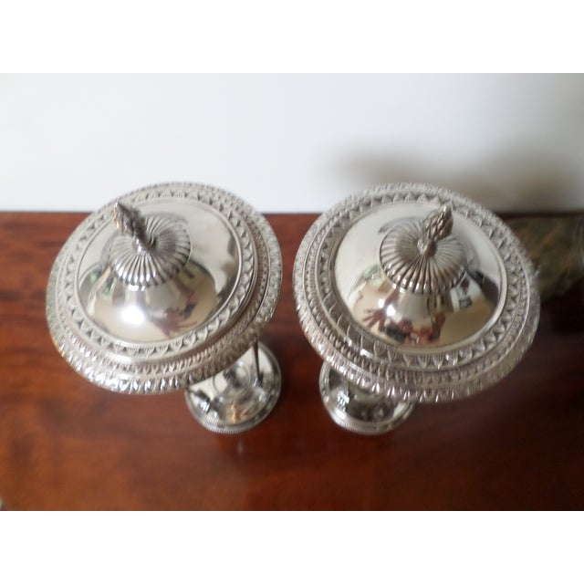 Regency Bombay Company Regency Style Silver-Plate Sweetmeat Dishes - a Pair For Sale - Image 3 of 13