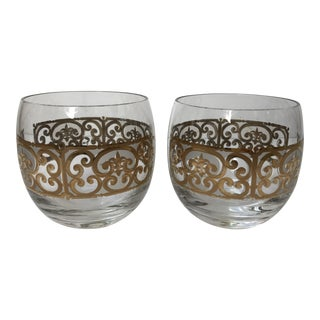 Georges Briard Roly Poly Filligree Glasses -- A Pair