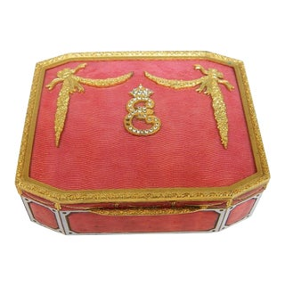 Early 19th Century Antique Italian Enamel & Gold Box For Sale