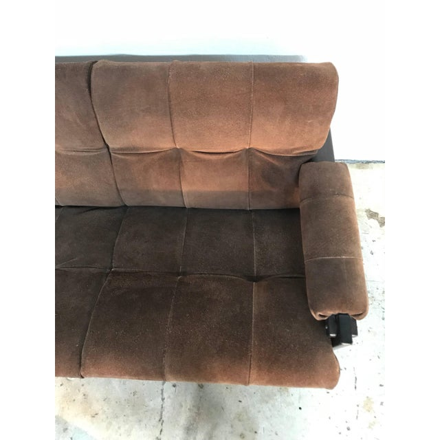 Perceval Lafer Brazilian Rosewood and Suede Sofa For Sale In Miami - Image 6 of 7
