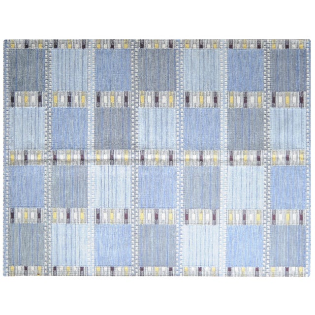 Stark Studio Rugs Contemporary Flat Woven Wool Rug - 6′6″ × 8′8″ For Sale