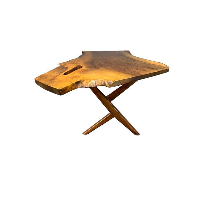 1950s George Nakashima Large Conoid Writing Desk For Sale - Image 5 of 13