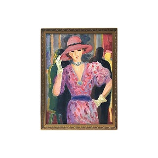 1950s French Portrait of a Woman For Sale