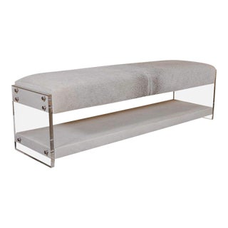 Yves Lucite Bench For Sale