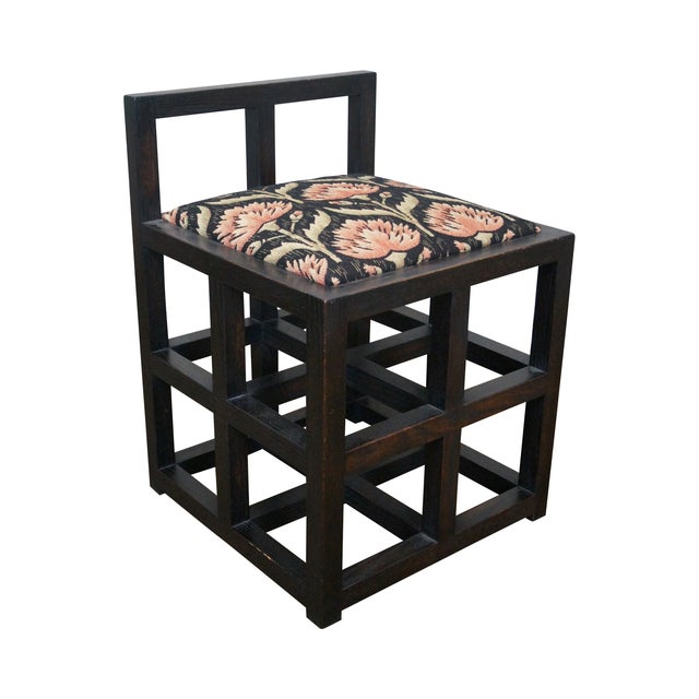 Custom Mission Oak Cube Side Chair - Image 1 of 10