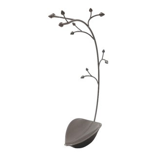 Metal Trinket Tray Jewelry Holder/Soap Dish Tree For Sale