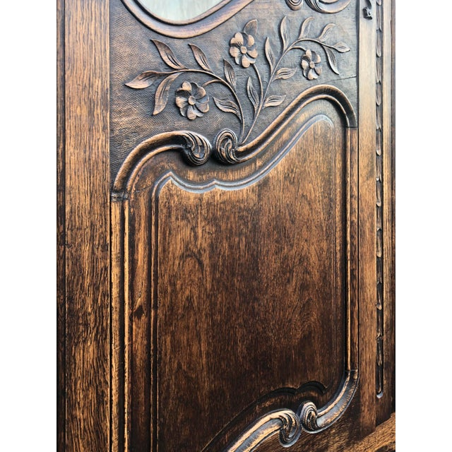 Brown 19th Century French Armoire / Display Cabinet For Sale - Image 8 of 12
