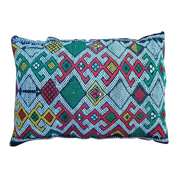 Green And Pink Moroccan Sham - Image 1 of 2