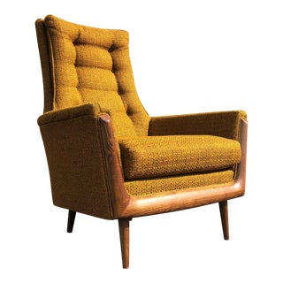 1960s Vintage Bassett Prestige High Back Lounge Chair For Sale