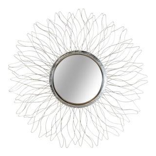 Contemporary Sunburst Wire Form Wall Mirror For Sale