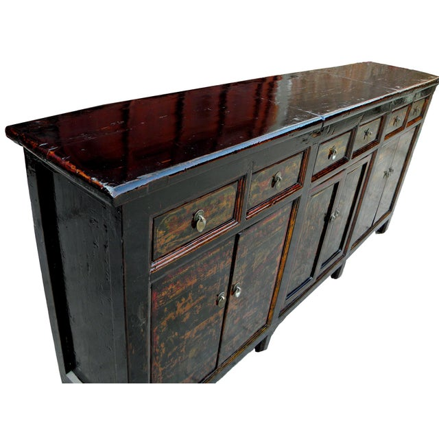 1910s Asian Antique Green Qinghai Sideboard For Sale - Image 4 of 13