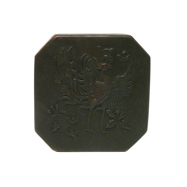 Chinese Handmade Metal Bronze Color Trinket Box For Sale