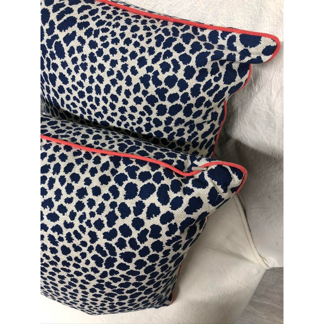 Contemporary Square Animal Print Pillows - a Pair For Sale - Image 10 of 11