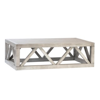 Washed Farmhouse Coffee Table For Sale