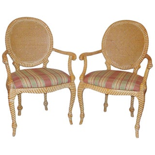Pair of Twisted and Knotted Form Armchairs For Sale
