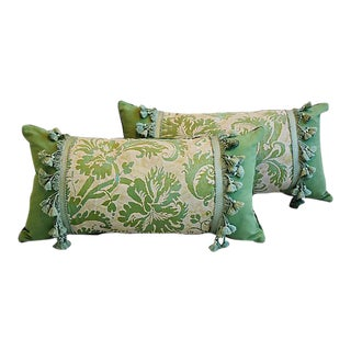 Custom Tailored Italian Mariano Fortuny Feather/Down Pillows - Pair