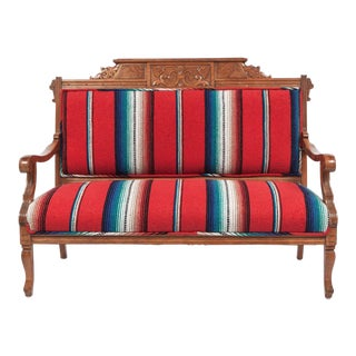 Serape Upholstered Wood Frame Loveseat