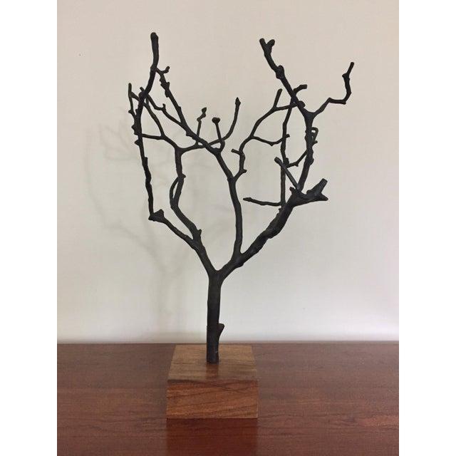 Contemporary Organic Contemporary Bronze Manzanita Jewelry Tree For Sale - Image 3 of 6