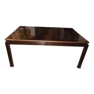 Henredon Chinoiserie Asian Lacquered Mahogany Dining Table