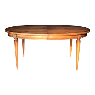 French Walnut Louis XVI Style Dining Table For Sale