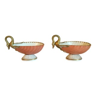 Early 20th Century Swan Sweetmeats Table Ornaments - a Pair For Sale