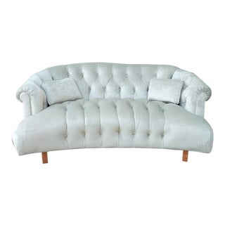 Restored Hollywood Regency Velvet Chesterfield Tufted Sofa